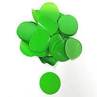 Конфетти кружочки 35мм зеленые 25г