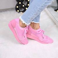 Кроссовки женские под Balenciaga розовые 3532, спортивная обувь