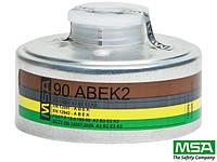 Поглотитель сменный 90 ABEK 2 для полумасок и полнолицевых масок с винтовым соединением MSA-PO-A2B2E2K2