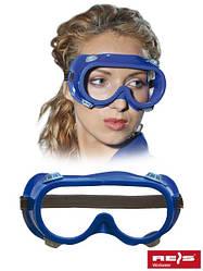 Противоосколочные защитные очки голубого цвета GOG-AIR-BLUE TN