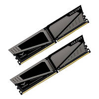 Память 8Gb x 2 (16Gb Kit) DDR4, 2400 MHz, Team Vulcan Gray, 14-16-16-31, 1.2V, с радиатором (TLGD416G2400HC14DC01)