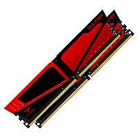 Оперативная память для компьютера 8Gb x 2 (16Gb Kit) DDR4, 2400 MHz, Team Vulcan Red, 14-16-16-31, 1.2V, с радиатором (TLRED416G2400HC14DC01)