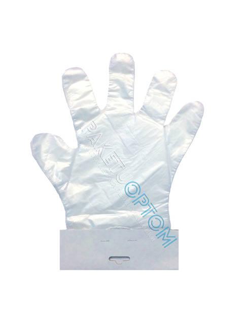 Перчатки одноразовые полиэтиленовые 100 шт (для магазинов)