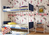 Кровать-трансформер детская металлическая кованная Арлекино двухъярусная, фото 1