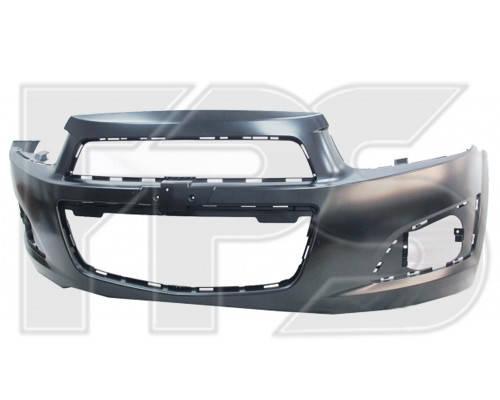Бампер передний Chevrolet Aveo T300 (12-16) (Китай) (FPS), фото 2