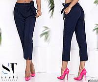 Женские брюки-бермуды с поясом