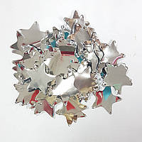 Конфетти звездочки серебро 250г