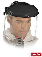 Защита для лица, состоящая из противоосколочного стекла, оголовья и шарнирного блока OTB B