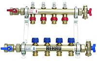 Коллектор для теплого пола Rehau HKV-D 5 (5 отводов с расходомерами + кранами)