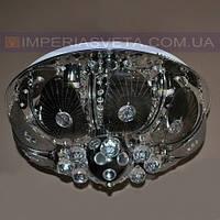 Потолочная люстра LED IMPERIA пятиламповая с пультом дистанционного управления и диодной подсветкой LUX-504502
