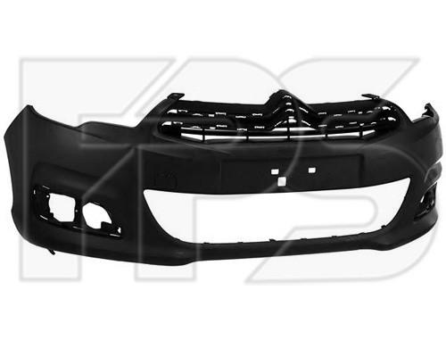 Передний бампер Citroen C4 10- без отв. п/троник (FPS) 00007401VN