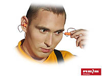 Одноразовые противошумные вкладыши для ушей сделанные из поролона, соединенные проводом OSZ-LINE P