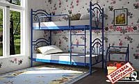 Кровать детская металлическая кованная Диана двухъярусная, фото 1