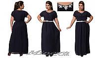 Длинное легкое шифоновое платье с подкладкой Размеры:50,52,54,56