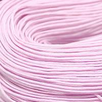 Шнур Вощеный Хлопковый, Цвет: Светло-розовый, Размер: Толщина 1мм, около 85м/связка, (УТ000003373)