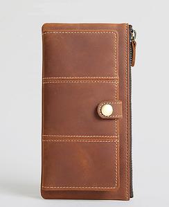 Женский кожаный клатч M.R.(черний,коричневий)