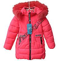 """Куртка детская для девочек """"Musick"""" 98-122 см. малиновая Китай Оптом Li K-1613"""