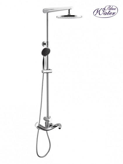 Настенный комплект для ванны  Blue Water rog-zkpn.500 хром с душевой головой и душем