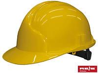 Каска строительная рабочая желтая REIS Польша(RAWPOL) KASPE Y