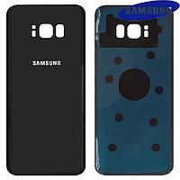 Задняя панель корпуса для Samsung Galaxy S8 Plus G955F, черная (midnight black), оригинал