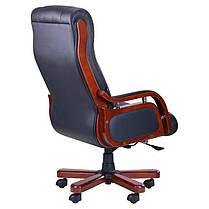Кресло Ричмонд, Кожа Черная (642-B+PVC) (AMF-ТМ), фото 3