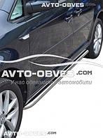 Боковые подножки площадки для Volkswagen Caddy IV 2015-..., кор (L1) / длин (L2) базы, Ø 42 \ 51  \ 60 мм