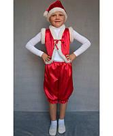 Карнавальный костюм Гномик на возраст от 3 до 6 лет (95-120 см) красный