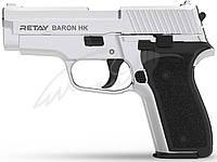 Пистолет стартовый Retay Baron HK кал. 9 мм. Цвет - Nickel