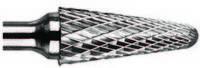 Борфреза твердосплавная коническая ф 22.0 мм с закругленным концом (тип L) хвостовик 10мм