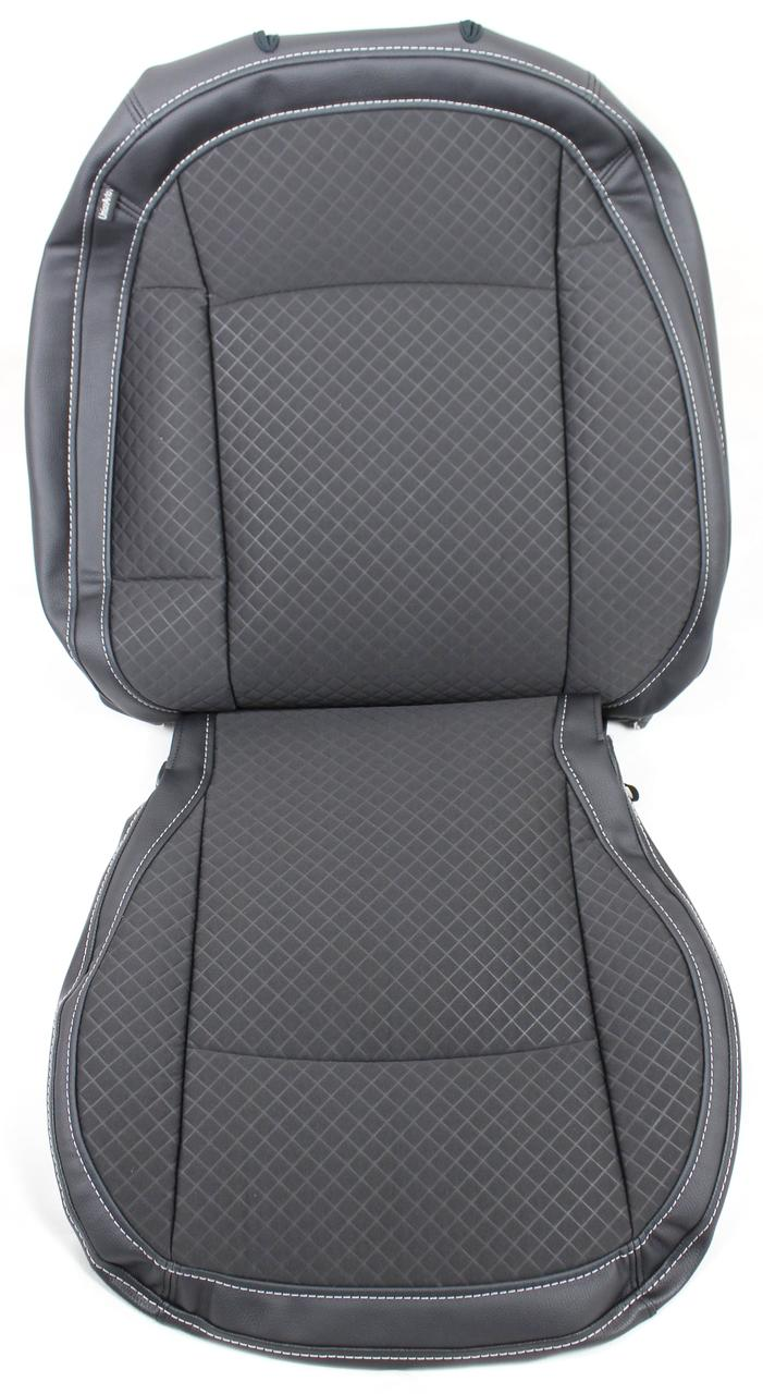 Чехлы на сидения Nissan Qashqai 2007-2013 экокожа-ткань UNION