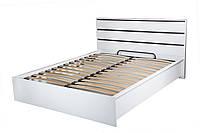 Кровать Прага 1.6 белый лак с подъемным механизмом, фото 1