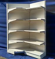 """Торговый стеллаж угловой """"Модерн"""" Н-210 см. 75 х 75 см. БУ, фото 1"""
