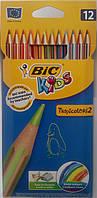 Цветние карандаши тропиколорс Bic (12 цветов)