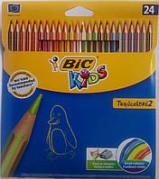 Цветние карандаши тропиколорс Bic (24 цвета)