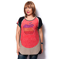 """Женская футболка большого размера """"Яблоко"""""""