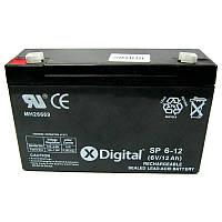 Аккумулятор свинцово-кислотный X-DIGITAL SP 6-12 (6V,12Ah)