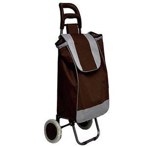 Тачка сумка с колесиками кравчучка 95см E00317 Brown