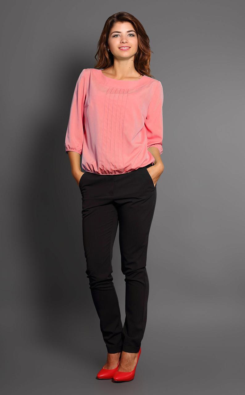 Блуза Modna KAZKA  Аврил 7198-9 розовая 52 размера