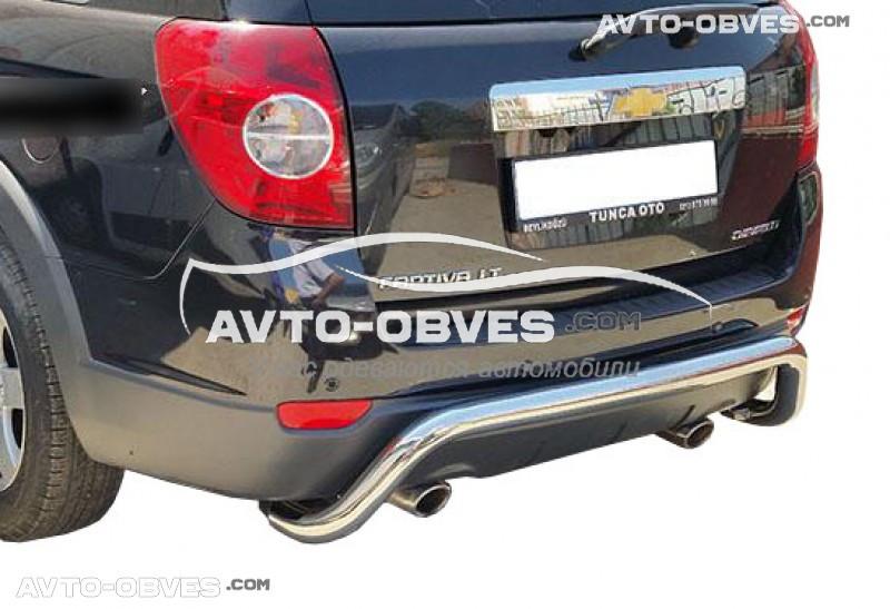 Защита заднего бампера Chevrolet Captiva, нержавейка