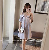 Платье-туника с бусинками