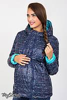 Демисезонная двухсторонняя куртка для беременных Floyd, меланжевый принт с аквамарином*