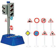City Traffic Светофор (25 см) с дорожными знаками, Dickie Toys