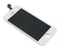 Дисплей для iPhone 5S/SE + Touchscreen. белый. копия высокого качества