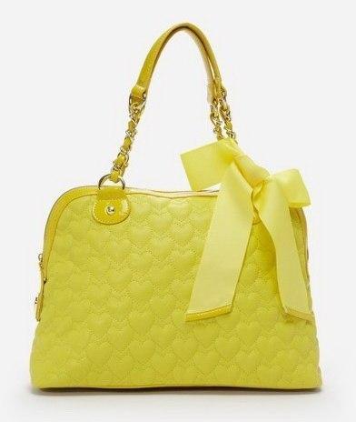 Жёлтая сумочка BETSEY JOHNSON