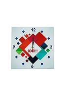 Часы стеклянные с логотипом , фото 1