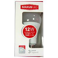 Лампочка  светодиодная Maxus led 564-01  A65  12W  E27  4100K