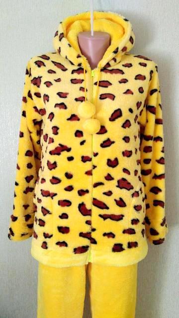 Махровая пижама на молнии в 6 цветах