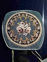 Накидки на стулья на завязках 50*50 Гобелен с окантовкой, фото 2