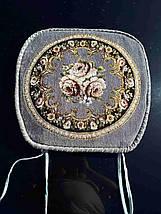 Накидки на стулья на завязках 50*50 Гобелен с окантовкой, фото 3