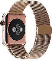 Ремешок Apple Watch 42mm Milanese Loop Band Gold копия